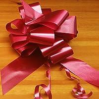 365 Floral and Craft Supplies Wedding Car Decoration Kit - 10 Metres of Ribbon & Large Bows Ribbon & Bow Car (Burgundy, 3)