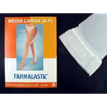 FARMALASTIC MEDIA LARGA BLONDA COMPRESION NORMAL BLANCA T.G