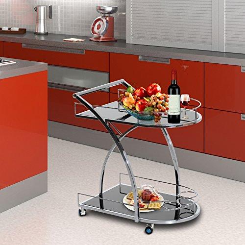 Homcom - Carrello da Cucina con 4 Rotelle Multidirezionali in Ferro ...