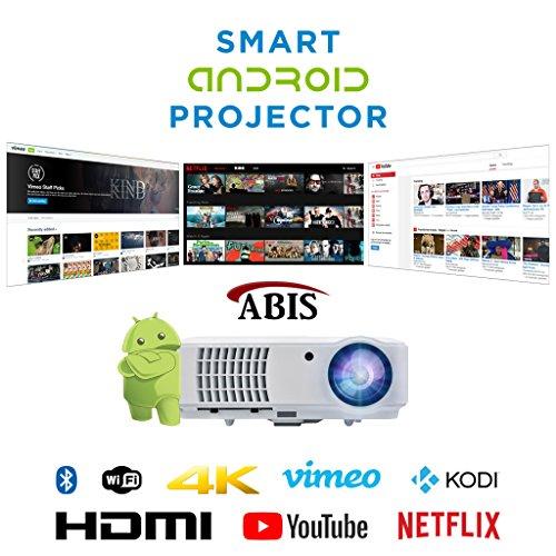 Proyector de alta definición SMART conexión WiFi Proyector HD 720. Lleno HD...