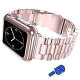 iitee Edelstahl iWatch Band Link-Armband mit Adapter für Apple Watch Serie 1und 2