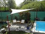 Coolaroo Sonnensegel Dreieck 5x5x5 m Farbe weiß