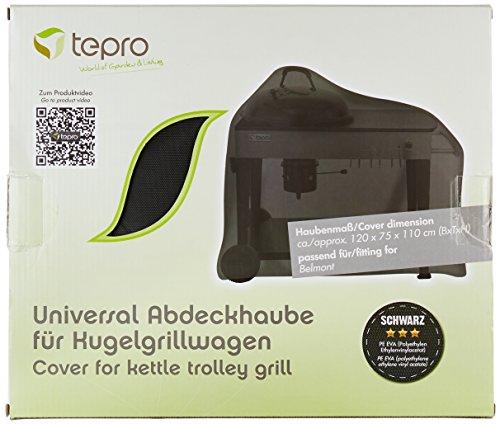 Tepro Universal Grillabdeckhaube 8112 Kugelgrillwagen, schwarz, 75 x 120 x 110 cm | passend für tepro 1102