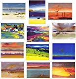 Abstract Landscape Greeting Cards 12 Pack