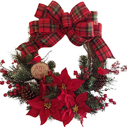 Coxeer Artificial Christmas Hanging Wreath Door Decor (Multicolour)