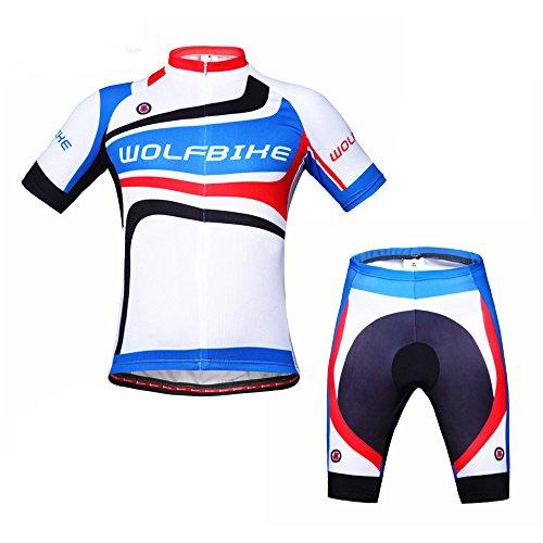ParaCity Herren/Damen Fahrrad Trikot Kurzarm Trikot Set für Reiten Radfahren Radsport MTB (Erwachsene Kleid Rocky)