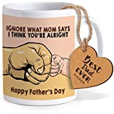 TIED RIBBONS Fathers Day Gifts | Fathers Day Gifts From Daughter | Gift For Father | Printed Coffee Mug With Wooden Tag