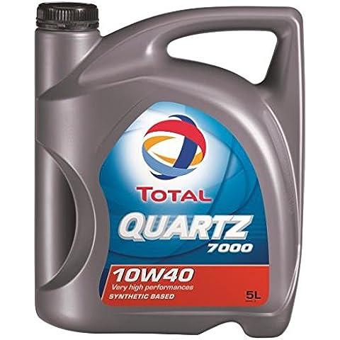 Total Quartz 7000 10W40 5 litros. Lubricante sintético desarrollado para todo tipo de motores gasolina o diesel de vehículo ligero en todos los tipos de
