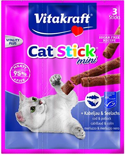 Vitakraft Katzensnack Cat-Stick mini Kabeljau & Seelachs - 3 x 6g