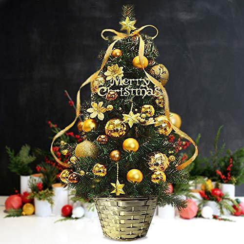 HAPPYLR Dekoration60 cm Bonsai Sheng Dan Weihnachtsbaum Weihnachtspakete Christbaumschmuck Mini Desktop kleine, rote Früchte mit gewöhnlichen Bonsai Lichter - Künstliche Kleiner Adventskranz