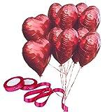 Olen Rote Herz Ballons Helium Luftballons Herz Rot Herz Luftballons Hochzeitsdeko Satz von 12