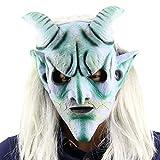 Eizur Scary Halloween Kopfmaske Latex Head Maske Horror Langes Haar König Horrormaske Karneval Kostüm Cosplay Requisiten für Fasching Partei Abendkleid