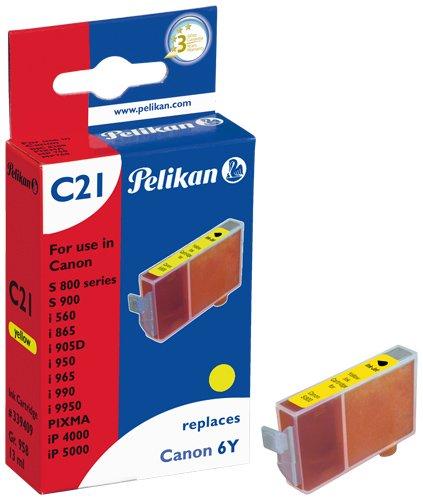 Pelikan 339409 – Cartucho de tinta Canon S-800, S-820, S-830D, S-900, S-9000, BJC 8200 – BCI-6 – Amarillo