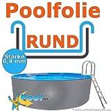 Poolfolie 3,50 bis 3,60 x 0,92 m x 0,40 mm Schwimmbadfolie Innenhülle 3,5 3,6 m Ersatzfolie Pool 350 360 cm Ersatz Innenfolie rund Pools 0,90 m