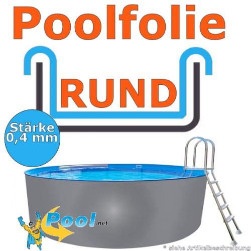 Freizeitwelt-Online Poolfolie 3,50 x 0,4 mm 0,90 1,20 1,25 1,35 1,50 m Schwimmbadfolie Innenhülle Auskleidung 3,5 m Ersatzfolie Pool 350 cm Ersatz Innenfolie rund Pools