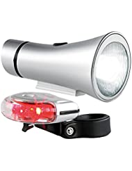 Lunartec 10 Lux-LED-Outdoorlampen-Set, weiß, rot