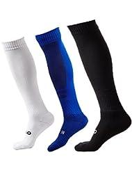 3 Paires Antidérapantes Chaussettes de Football Homme Chaussettes de Sport Femmes pour Basketball, Football, la randonnée, Courir EUR 39-44
