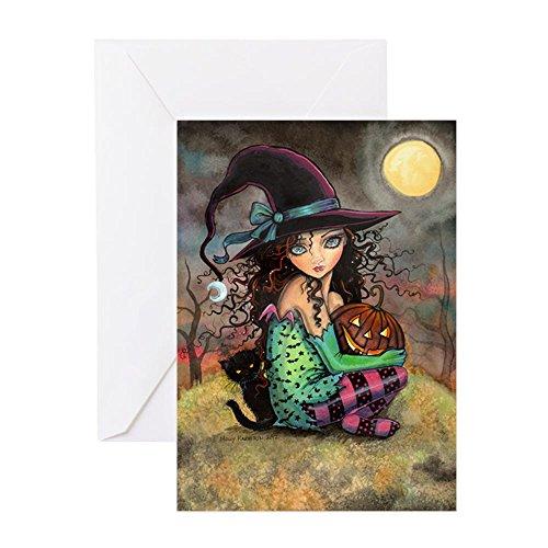 CafePress–Halloween Hill–Grußkarte, Note Karte, Geburtstagskarte, innen blanko, glänzend
