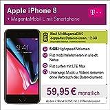 Apple iPhone 8 mit 64 GB internem Speicher mit Telekom Magenta L inkl. Telefon-und SMS Flat in Alle dt. Netze, 4GB Datenvolumen mit bis zu 300 Mbit/s, 24 Monate Laufzeit mtl.
