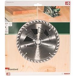 Bosch 2609256813 Standard Lame de scie circulaire 40 dents carbure Coupe nette DiamÚtre 170 mm alésage/alésage avec bague de réduction 20/16 Largeur de coupe 2,2 mm
