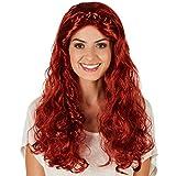 Perruque pour femme reine Renaissance | Cheveux longs artificiels | Parachève votre costume Renaissance avec style