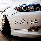 """Auto Styling Aufkleber """"La Vita E BELLA"""" Auto Aufkleber Vinyl Aufkleber Dekoration Film Aufkleber DIY Auto Tuning Teile (Schawrz)"""