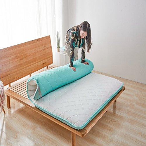 HYXL Dicken Tatami Boden Matte Kissen matratze,Tatami-matratze Schüler Doppel schlafsaal Dicke Warme einzelbett Trampolin Schwamm matten Kissen-B 120x200cm(47x79inch)