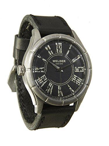 Welder, orologio al quarzo da uomo, quadrante nero, display analogico e...