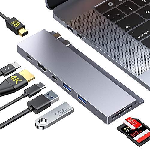 Honmax Hub USB C, 8 in 1 Dock Mini DP, HDMI 4K, 2