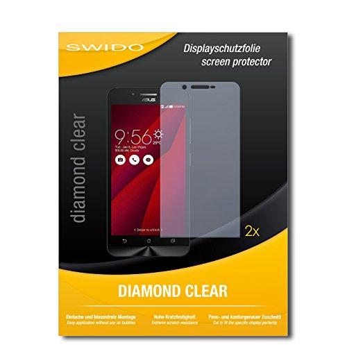 SWIDO 2 x Bildschirmschutzfolie Asus ZenFone Go Schutzfolie Folie DiamondClear unsichtbar