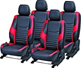 #9: Khushal Leatherite Car Seat Cover for Tata Tiago KS061TT Black/Red with free Steering Cover