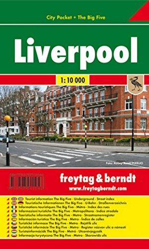 Liverpool, plano callejero de bolsillo plastificado. City Pocket. Escala 1:10.000. Freytag & Berndt. por VV.AA.
