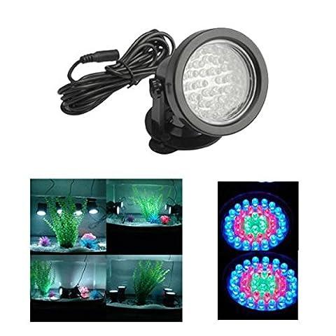 Pixnor 220V-36 LEDs RGB changement de couleur LED Submersible Spot ampoule pour Aquarium jardin /Pond /Pool /Fish réservoir (Noir)