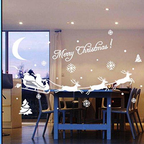 Christmas Wandsticker Xinan Weihnachten Dekoration Aufkleber Fenster Aufkleber Home (Dekorationen Fenster)