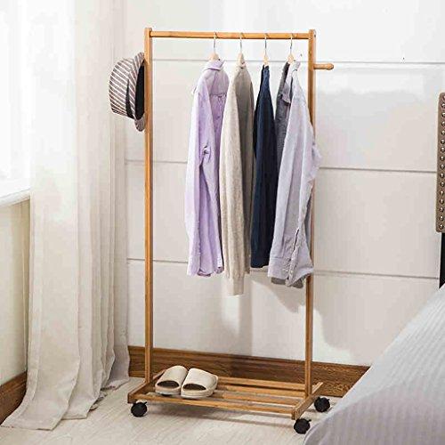 garderobe baum ikea ZXYMJ Kleiderhaken Bambus Garderobenständer Kleiderständer Schuhablage Kleiderstange Rollen Kleiderstang Nivellierfüße (größe : 70cm)