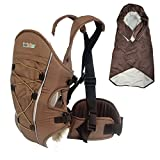 Bebamour Baby Carrier Backpack with Baby Carrier Cover Front Carriers (Coffee) - bebear - amazon.co.uk