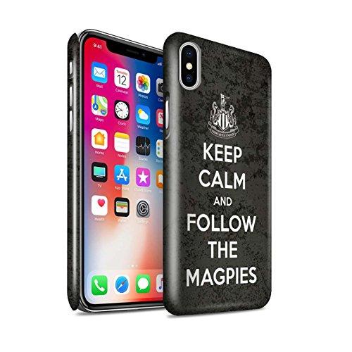 Officiel Newcastle United FC Coque / Clipser Brillant Etui pour Apple iPhone X/10 / Regarder NUFC Design / NUFC Keep Calm Collection Suivez/Magpies
