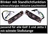 X-Parts2 Frontblinker Blinker Standlicht 1030094 SCHMALE STOSSSTANGE SCHWARZ