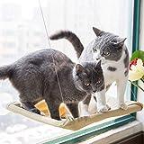 Lomire Hamac par la fenêtre pour Les Chats, lit Suspendu/Chaise Longue en permettant Une Utilisation sur Les Petits Animaux de Compagnie de jusqu'à 15kg - Sunny Seat idéal pour Les Chats
