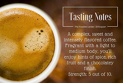 Biodegradable Nespresso® Compatible Premium Coffee Capsules   Single Origin Ethiopian Yirgacheffe, 100% Strictly High Grown, Organic Fairtrade Arabica Coffee   40 Compostable Coffee Pods