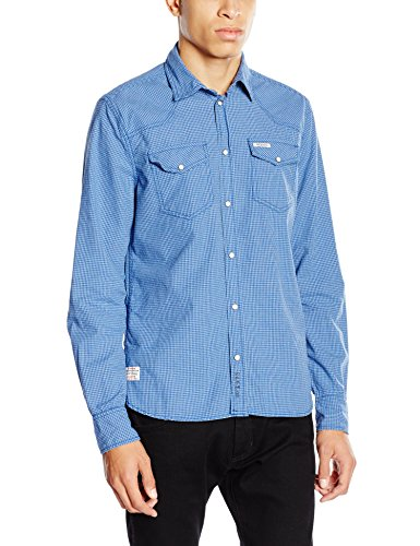 Pepe Jeans - Adrian, Camicia da uomo blu (Blau - Blau)