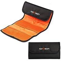 K&F Concept® 6 Fächer Objektiv Filter Tasche Hülle Filter Aufbewahrungstasche Wallet für DSLR Kamera Filter inkl. UV CPL ND Filter Verlaufsfilter 37-82mm