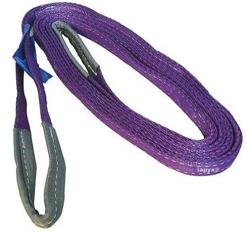 Hebeband Rundschlinge 1000kg Tragkraft 2m verstärkte Endschlaufen nach ENorm1492-2 Kennfarbe lila , iapyx®