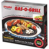 STEEMO Gas O Grill, Grill PAN- Stove TOP Indoor/Outdoor SMOKELESS BBQ Grill
