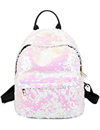 0b122bff475c Coromose Fashion Backpack Women Outdoor Casual PU Backpack Popular Sequins  Double-Shoulder Bag Schoolbag Daypacks