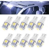 K-Bright 10 x Unidades Casquillo de cristal LED T10 W5W 5050 5SMD blanco 24 V camiones Interior Iluminación