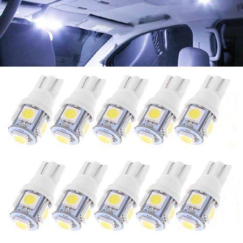 K Bright 10 X Stück Glassockel LED T10 W5w 5x5050 SMD Weiß 24V LKW  Innenraum Beleuchtung