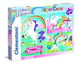 Clementoni 25231 Puzzle 48 Pieza(s) - Rompecabezas (Contour Puzzle, Animales, Niños, Unicornio, Chica, 4 año(s))