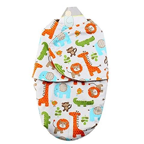 Swaddle Blanket Adjustable Infant Cartoon Soft Boys Girls Sleeping Bag Baby Wrap 0-6 Months