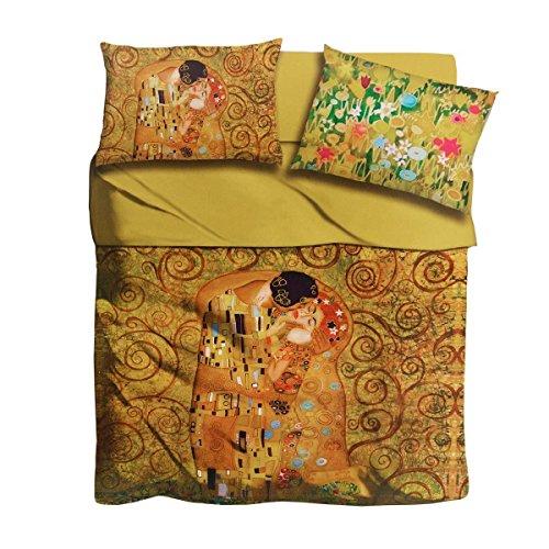 Completo lenzuola Il bacio di Klimt I Love Sleeping digitale ...